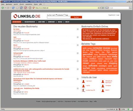 Neue Startseite von linksilo.de