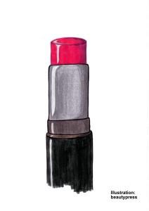 Lippenstift mit geradem Schnitt