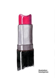 Lippenstift mit Kuhle