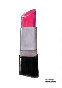 Lippenstift mit schiefer Ebene