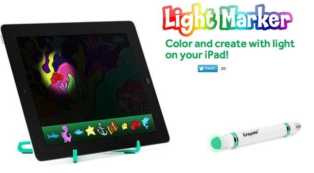 """Griffin-Lichtstift """"Crayola Light Marker"""" zum Zeichnen mit dem iPad"""