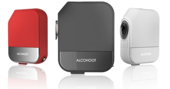 Smartphone-Breathalyzer Alcohoot als professionelles Alkoholmessgerät