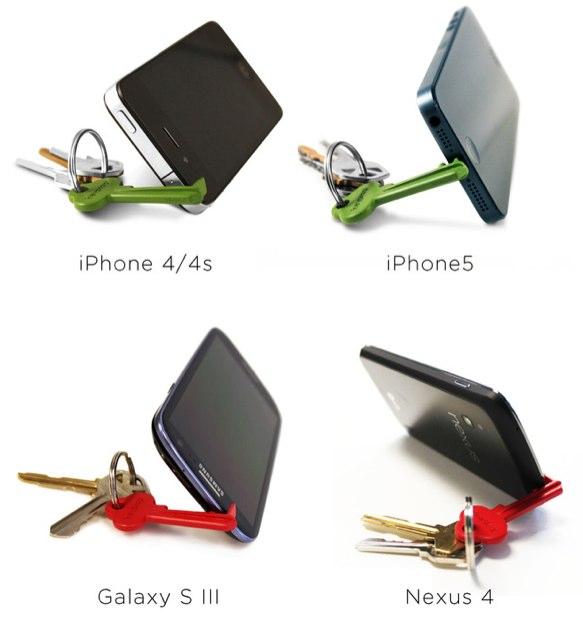 Keyprop-Schlüssel sorgt für die richtige Position des Smartphones beim Film schauen