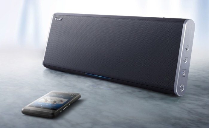Sony Funk-Lautsprecher SRS-BTX500 beherrschen neben Bluetooth auch NFC