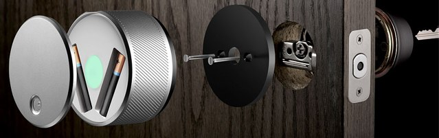 Smartphone-Gadget August Smart Lock als innovativer Türöffner