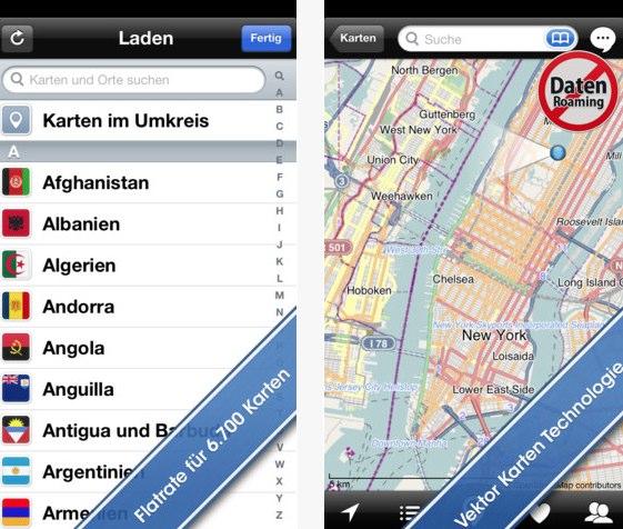 CityMaps2Go für Android und iOS