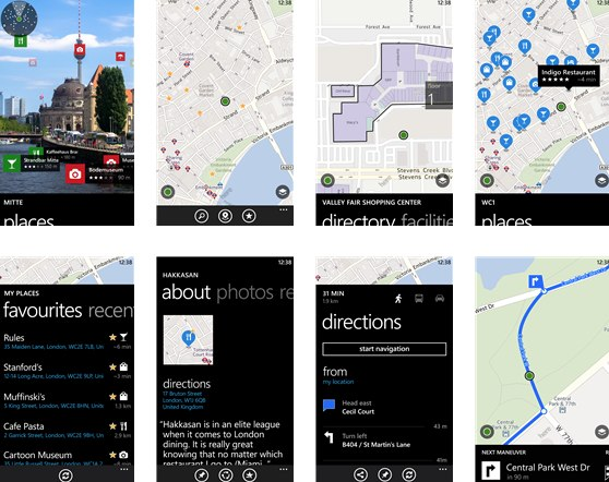 """""""HERE Maps"""" - diese App verfügt über eine Kartensammlung für die stolze Zahl von 94 Staaten,"""