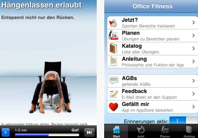 Office-Fit App gegen Rückenprobleme