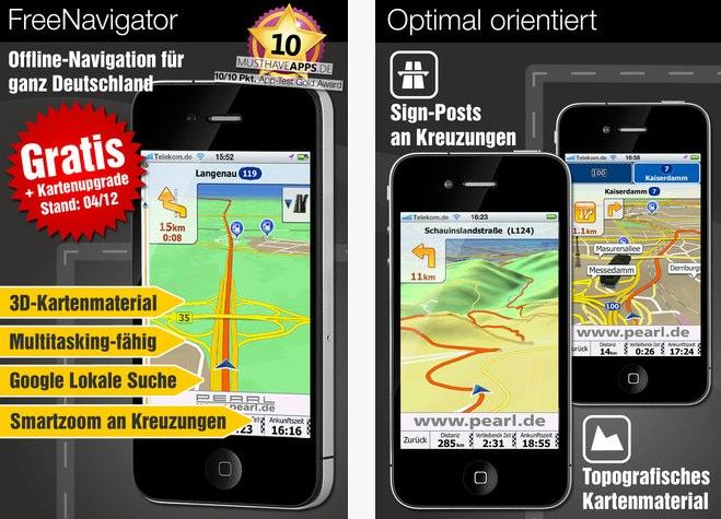 Pearl FreeNavigator für iOS